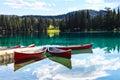 Lac beauvert jasper national park in alberta Royalty Free Stock Photo