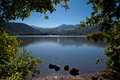 Lac Chambon in Auvergne Royalty Free Stock Photo