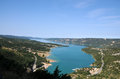 Lac de sainte croix lake ste a part of the verdon canyon haute provence france Stock Photo