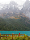 Lac mountain rocheuse Photo stock