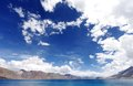 Lac pangong Photographie stock