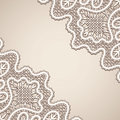 Lace background old vintage corner Royalty Free Stock Images