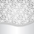 Lace background and pearl necklace Royalty Free Stock Photo