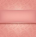 Lace background, pink Royalty Free Stock Photo