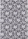 Lace on a black background. White lace on a black background. Lacy background. Royalty Free Stock Photo