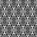 Lace black seamless mesh pattern. Royalty Free Stock Photos