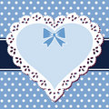 Lace blue heart Royalty Free Stock Photos