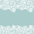 Lace border. Invitation card.