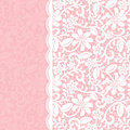 Lace border wedding invitation or greeting card with Royalty Free Stock Images