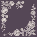 Lace. Corners. Card. Royalty Free Stock Photo