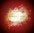 Lace Curves Red And Gold Banner Stock Photography