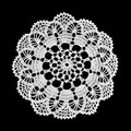 Lace Doily Isolated On Black