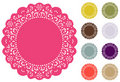 Lace Doily Place Mats, Pantone Fashion Colors Royalty Free Stock Photography