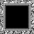 Lace floral frame wedding invitation or greeting card with Royalty Free Stock Photo
