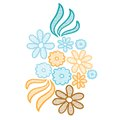 Lace flower applique Royalty Free Stock Photos