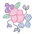 Lace flower applique Royalty Free Stock Images