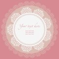 Lace frame ornamental round lace pattern circle background Royalty Free Stock Photography