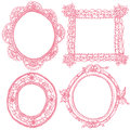 Lace frames and antique frames. Royalty Free Stock Photo