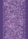 Lace grape vines vertical seamless pattern vector background ornament with hand drawn elements Stock Photography