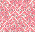Lace heart seamless pattern Stock Photo