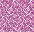 Lace heart seamless pattern Stock Images