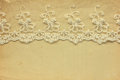 Lace on the old paper vintage Stock Images