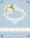 Lace ornaments and flowers. Stock Image