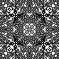 Lace pattern black and white texture seamless Royalty Free Stock Image