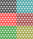 Lace pattern colored net interlock lines Stock Images