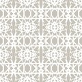 Lace pattern with white shapes in art deco style simple elegant on grey silver background texture for web print holiday home decor Royalty Free Stock Images
