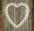 Lace pattern wood background valentines day wedding Royalty Free Stock Photo