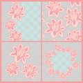 Lace patterns flowers mesh background Stock Images