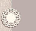 Lace pendant label on ornamental background