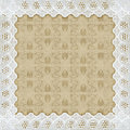 Lace picture frame Royalty Free Stock Photo