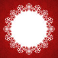 Lace round frame
