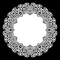 Lace round paper doily, lacy snowflake, greeting element, laser cut template, doily to decorate the cake