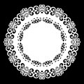 Lace round paper doily, lacy snowflake, greeting element, template for cutting plotter, laser cut template, doily to decorate t