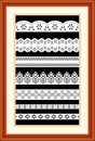 Lace Sampler in Cherry Wood Frame Stock Photography