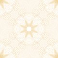 Lace seamless pattern with circle ornament Royalty Free Stock Image
