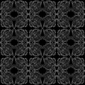 Lace seamless pattern delicate а black white Stock Photography