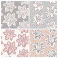 Lace seamless patterns flowers mesh background Royalty Free Stock Images