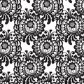 Lace vector fabric seamless pattern with flowers Stock Image