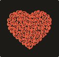 Laced curved heart for postcards scrapbooking and decorative paper works Stock Photography
