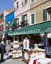 Lacework for sale in Burano, Venezia Italy Royalty Free Stock Image