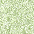 Lacey leaves lineart texture seamless pattern vector background with hand drawn elements Royalty Free Stock Photography