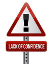 Lack of confidence Royalty Free Stock Photography
