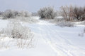 Lack of good roads russia winter Royalty Free Stock Photos