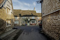 Lacock village wiltshire england is famous for its picturesque streets historic buildings and film location for Royalty Free Stock Photography