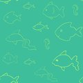 Laconic fish seamless vector pattern Royalty Free Stock Image