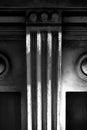 Laconic fragment of the facade latvia riga Royalty Free Stock Photography